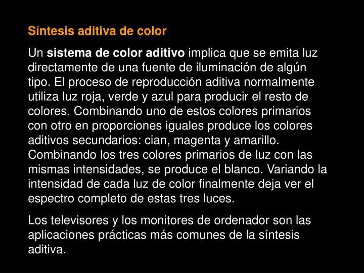 Síntesis aditiva de color