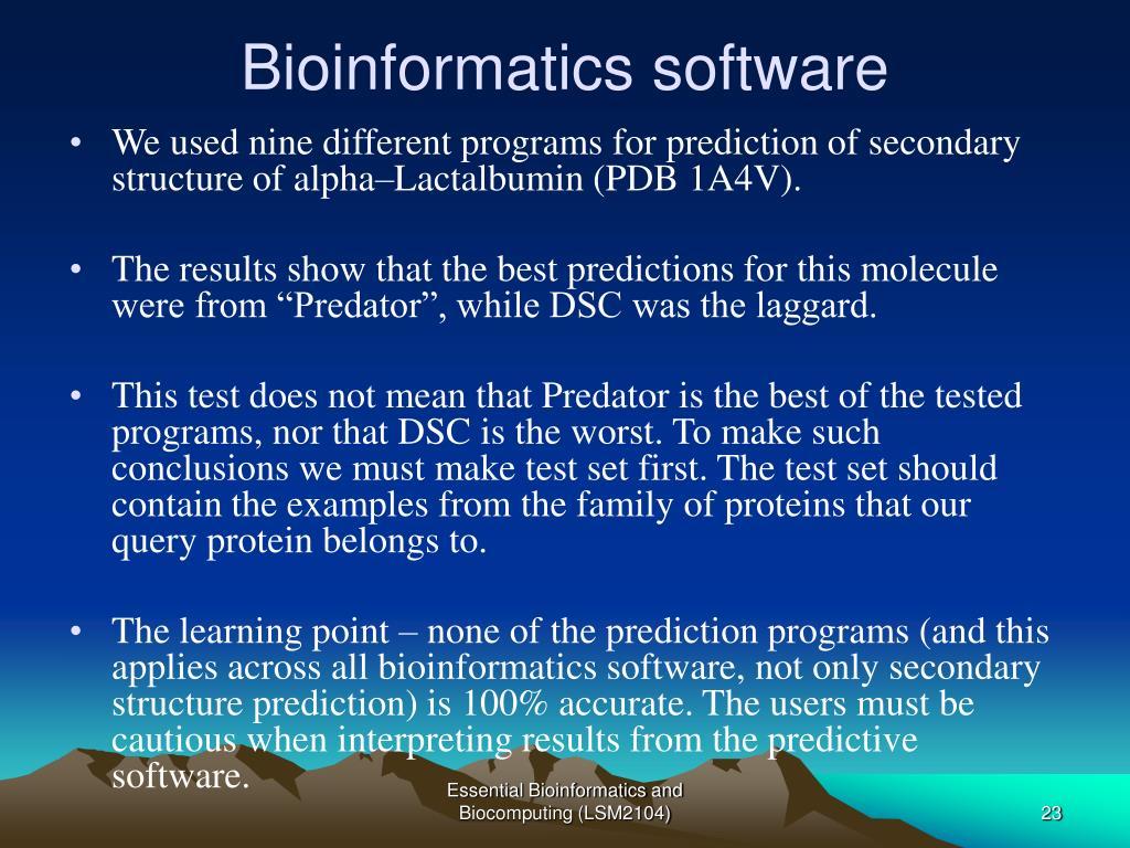 Bioinformatics software