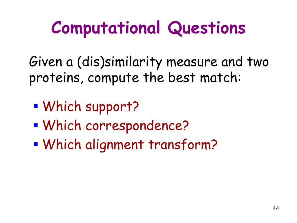 Computational Questions