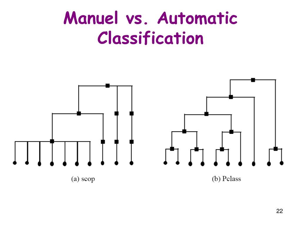 Manuel vs. Automatic Classification