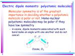 electric dipole moments polyatomic molecules