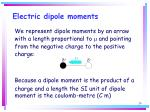 electric dipole moments24