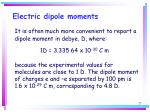 electric dipole moments25