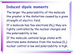 induced dipole moments50