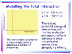 modelling the total interaction74