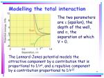 modelling the total interaction77