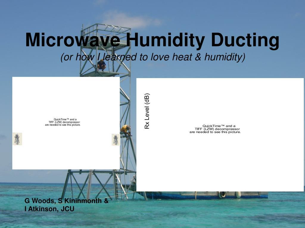 Microwave Humidity Ducting