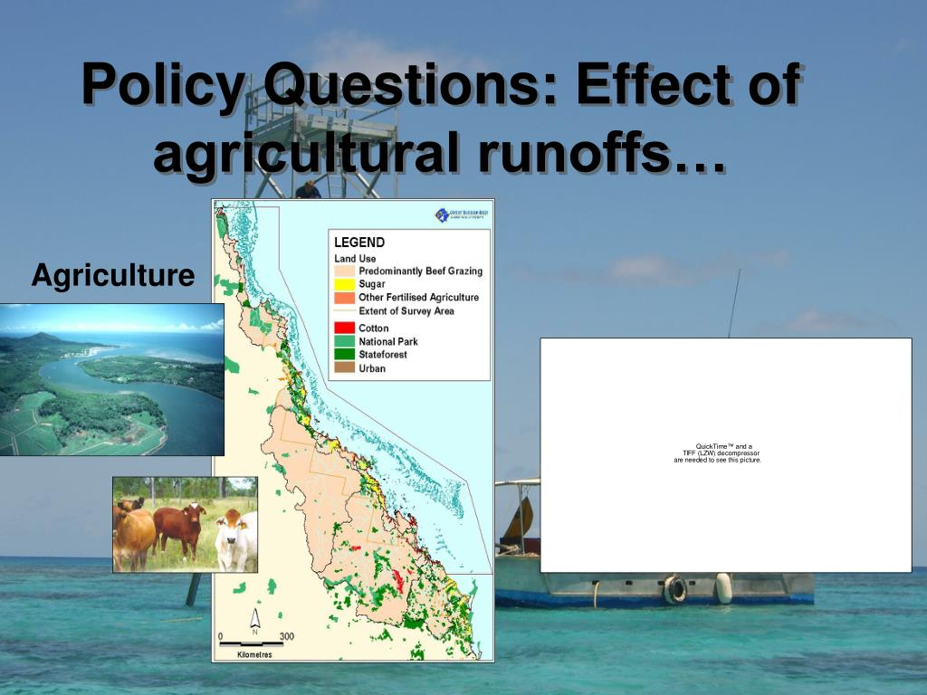 Policy Questions: Effect of agricultural runoffs…