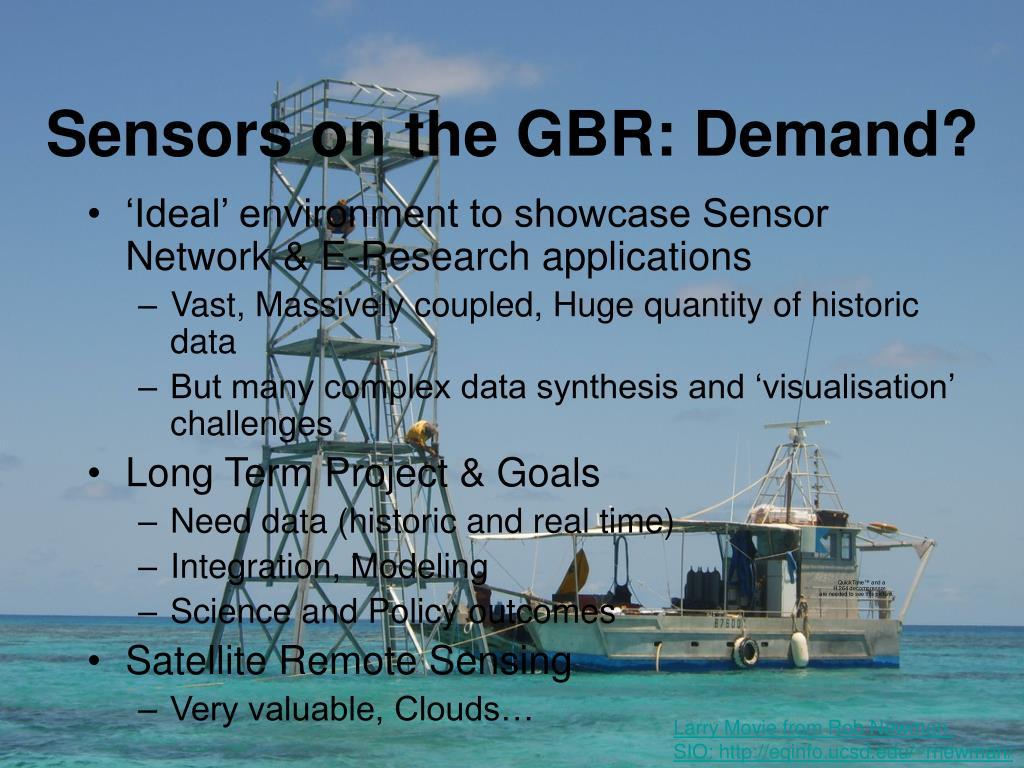 Sensors on the GBR: Demand?