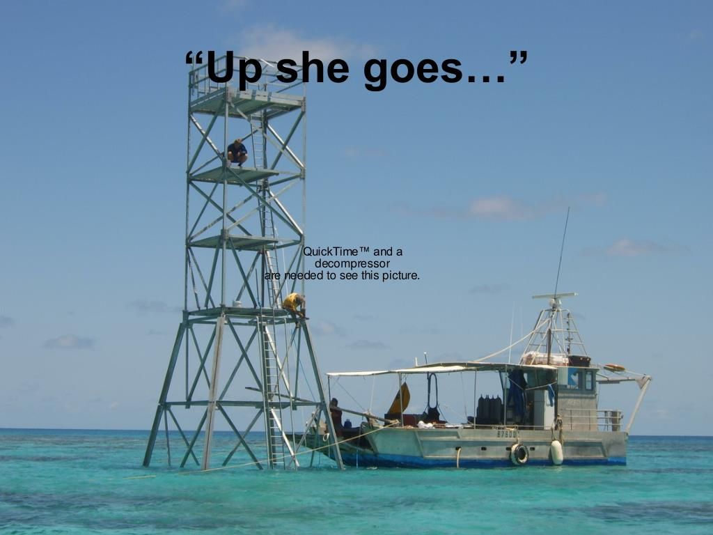"""Up she goes…"""