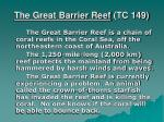 the great barrier reef tc 149