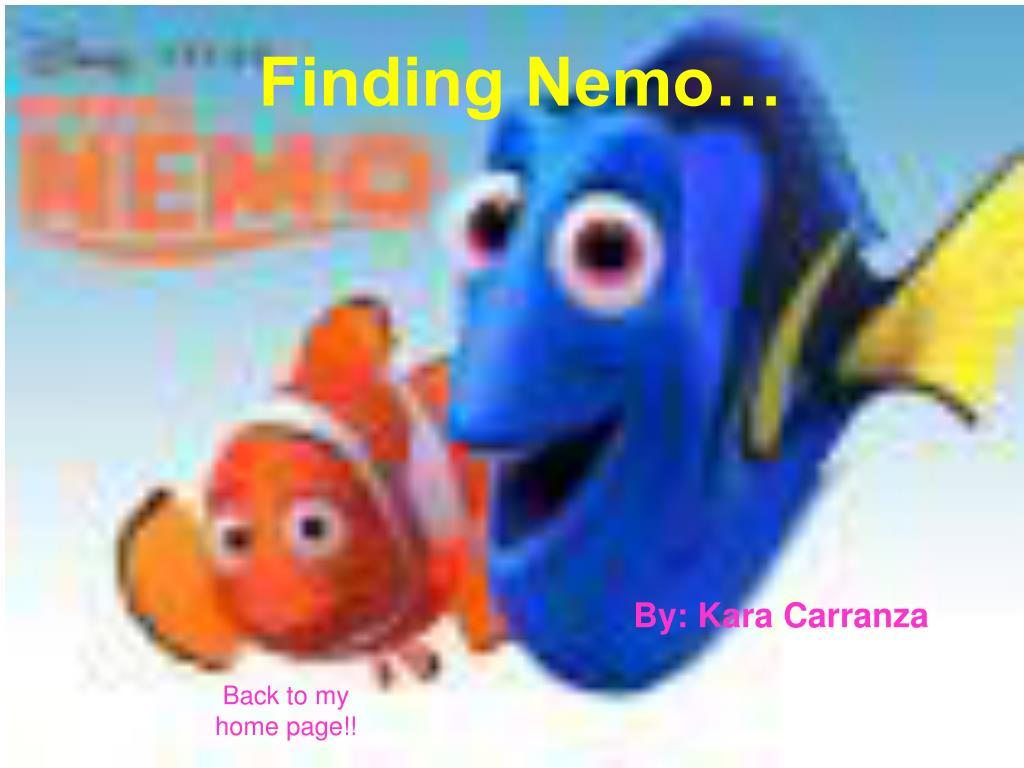 Finding Nemo…