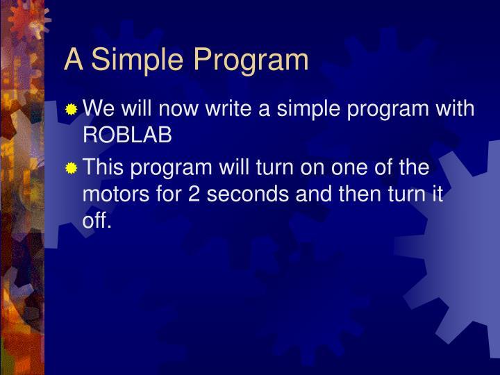 A Simple Program