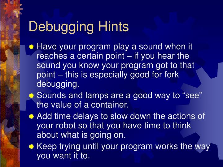 Debugging Hints