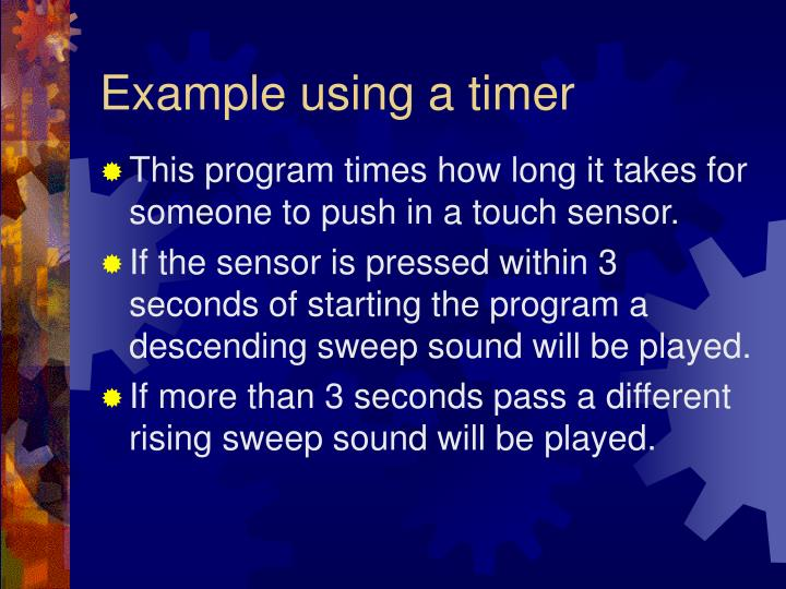 Example using a timer