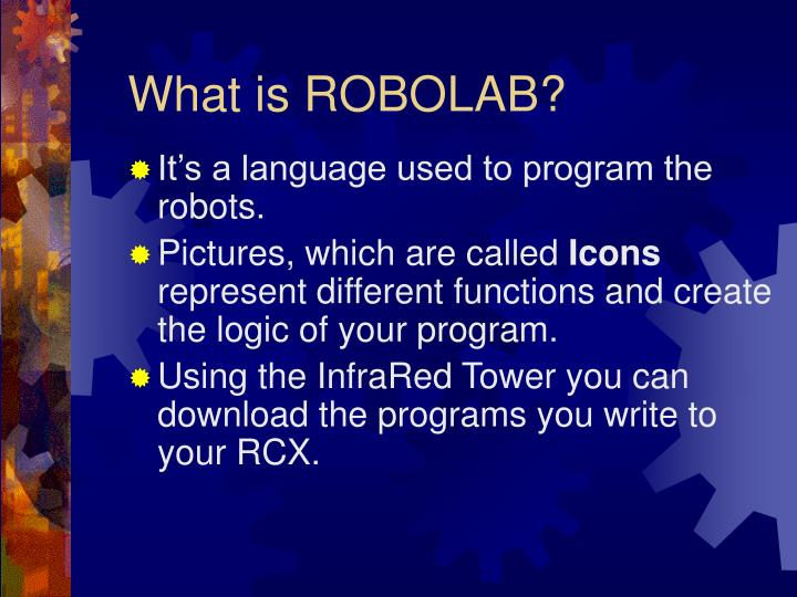 What is ROBOLAB?