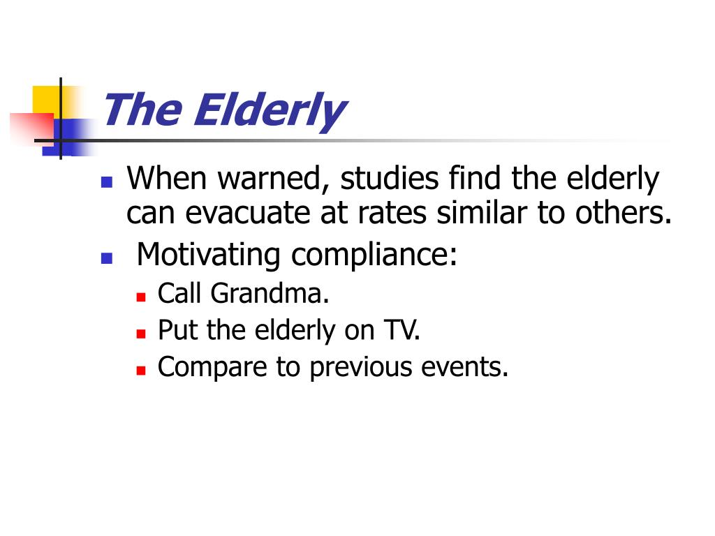 The Elderly