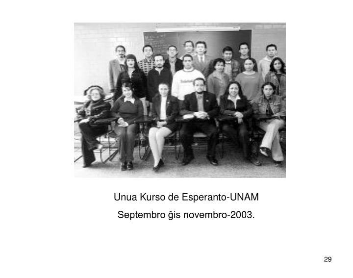 Unua Kurso de Esperanto-UNAM