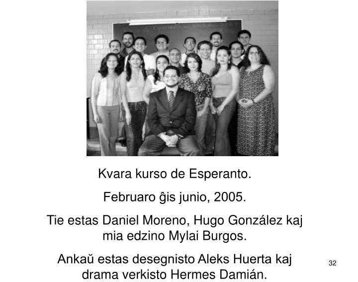 Kvara kurso de Esperanto.