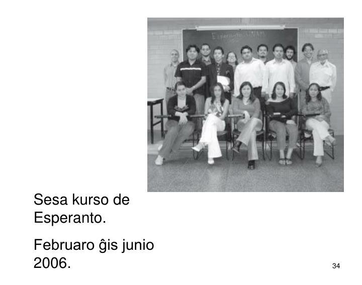 Sesa kurso de Esperanto.