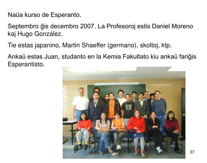 Naŭa kurso de Esperanto.