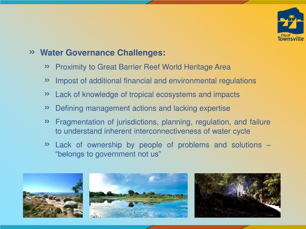Water Governance Challenges: