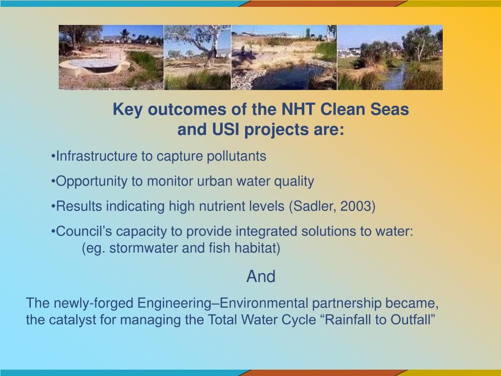 Key outcomes of the NHT Clean Seas