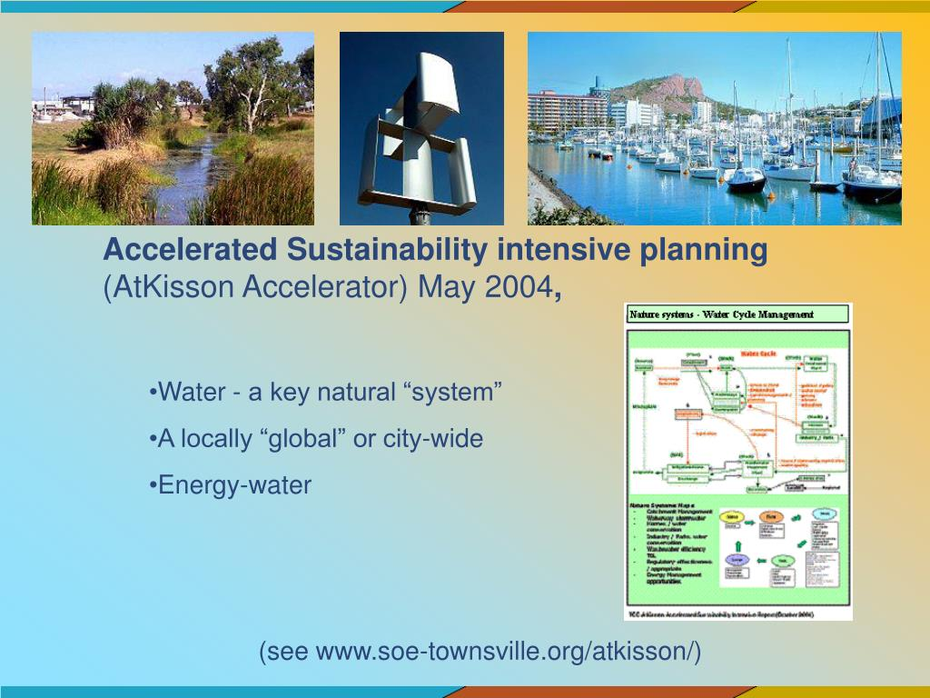 Accelerated Sustainability intensive planning