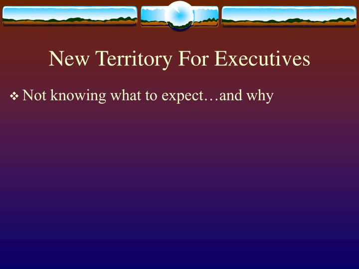 New Territory For Executives