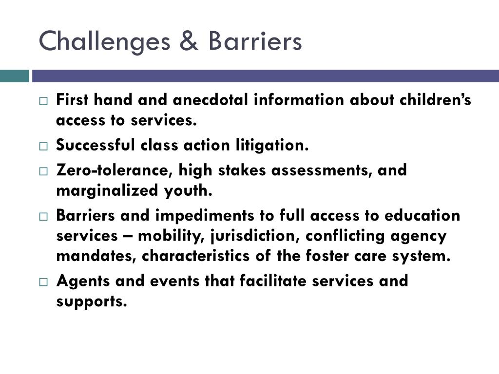Challenges & Barriers
