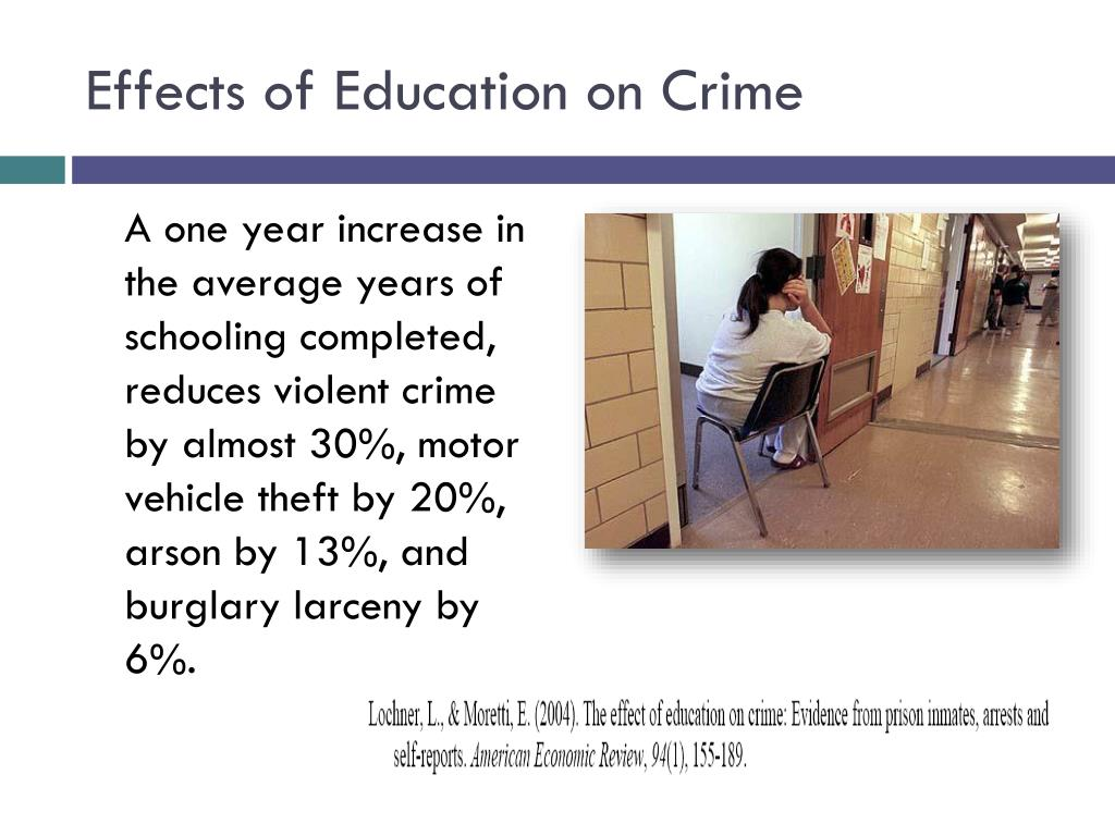 Effects of Education on Crime