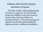 alabama joint family support assistance program