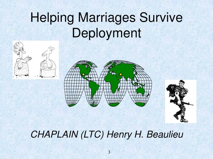 Helping marriages survive deployment