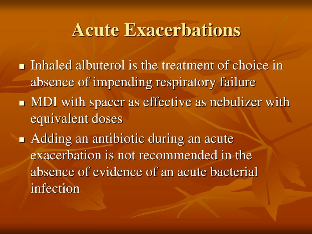 Acute Exacerbations