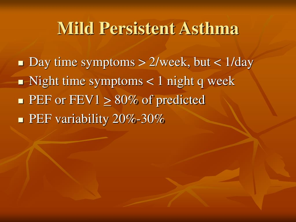 Mild Persistent Asthma