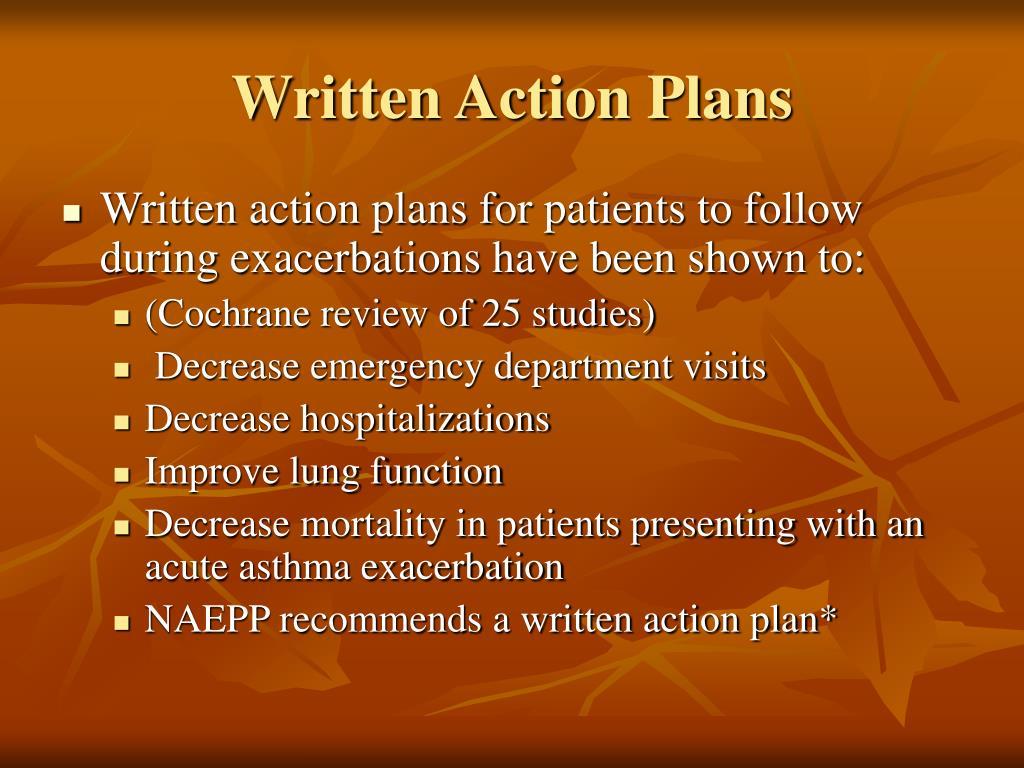 Written Action Plans
