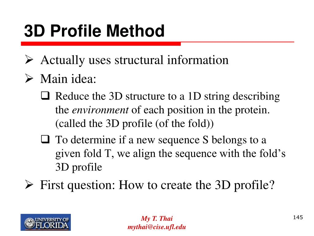 3D Profile Method