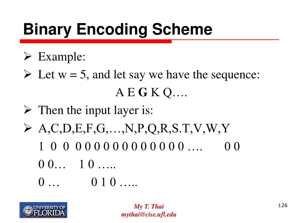 Binary Encoding Scheme