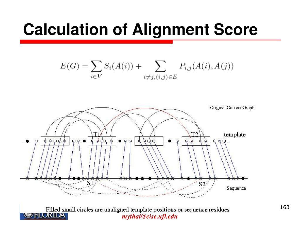 Calculation of Alignment Score