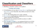 classification and classifiers80