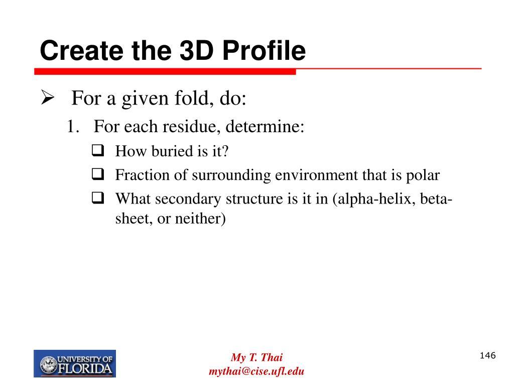 Create the 3D Profile