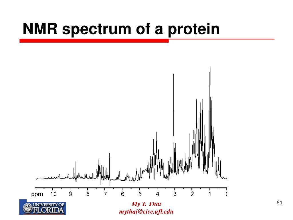 NMR spectrum of a protein