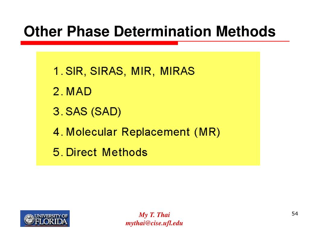 Other Phase Determination Methods