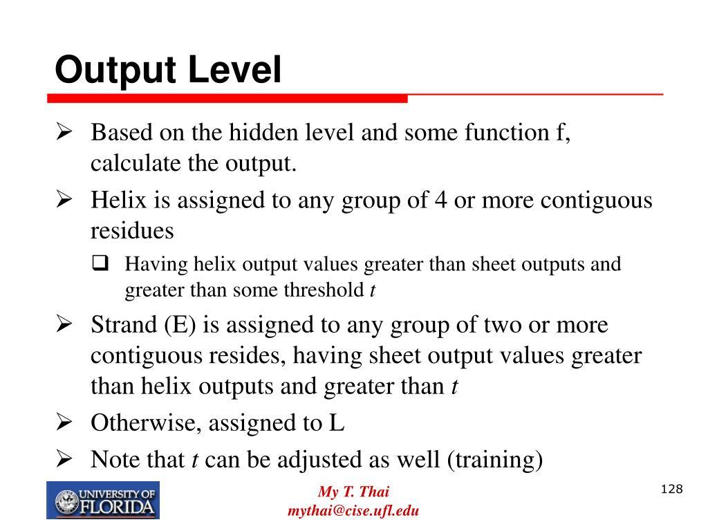 Output Level