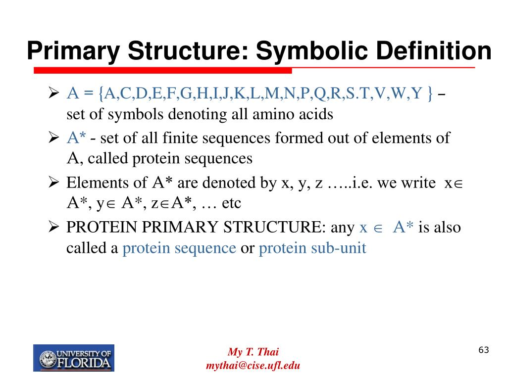 Primary Structure: Symbolic Definition
