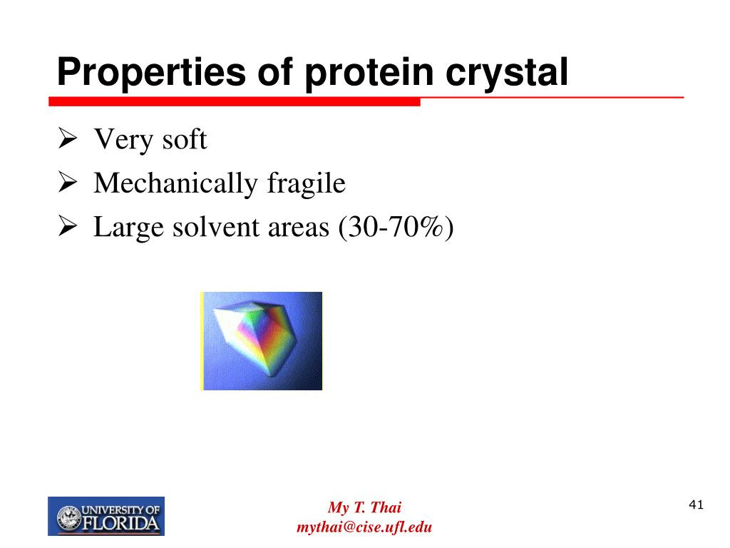 Properties of protein crystal