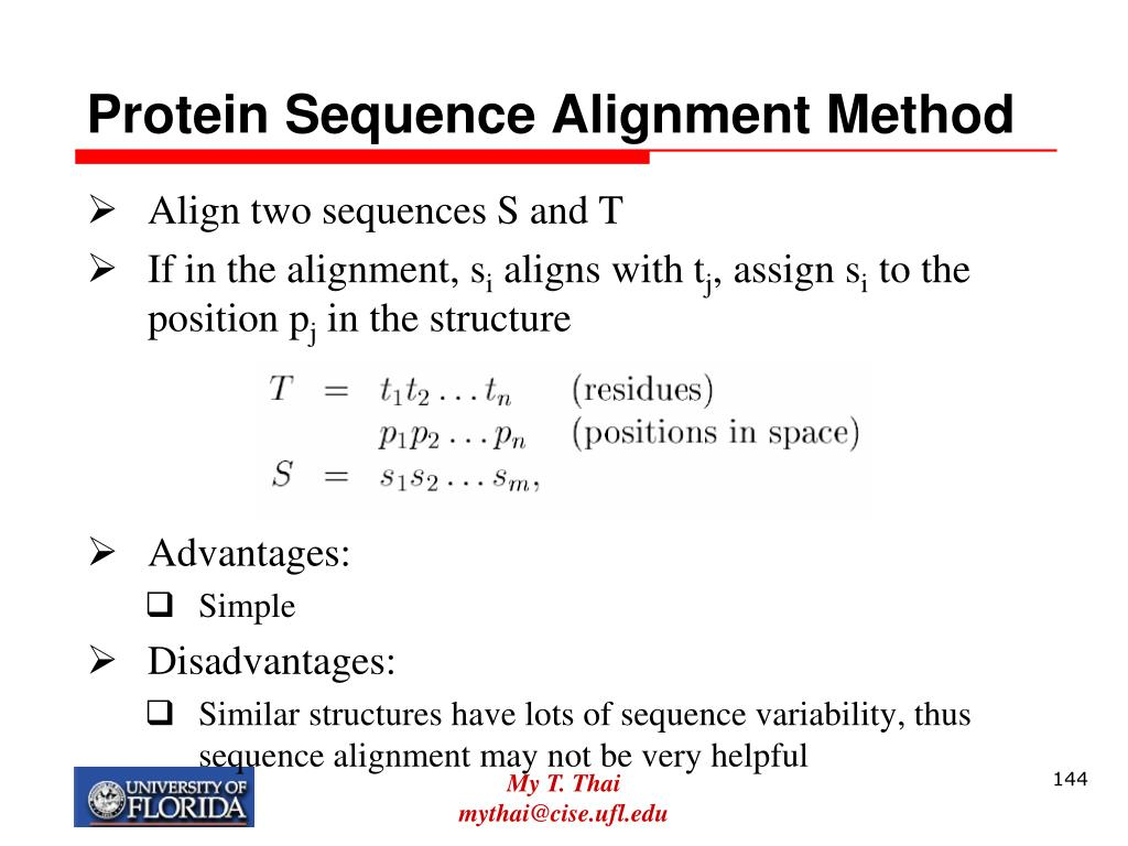 Protein Sequence Alignment Method