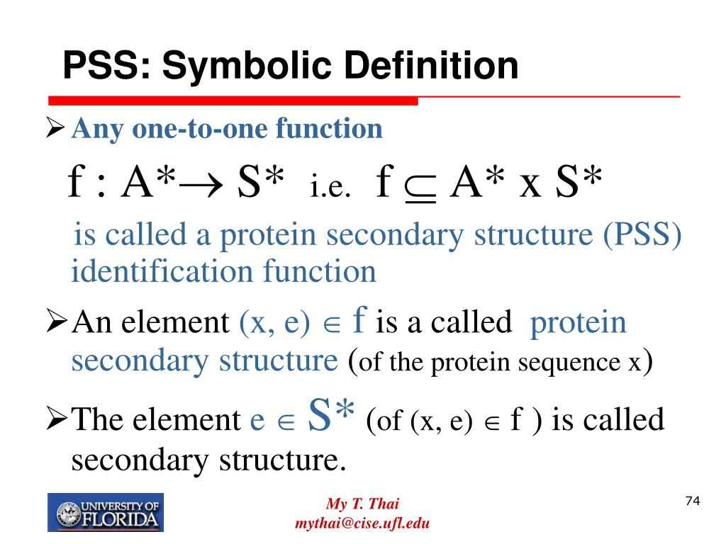 PSS: Symbolic Definition