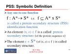 pss symbolic definition74