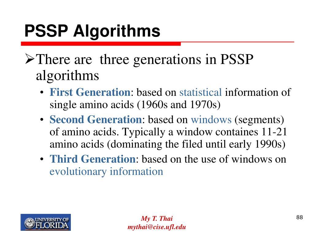PSSP Algorithms